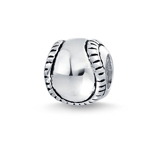 Bling Jewelry Softball Baseball Charm 925 Sterling Silver Sports Bead