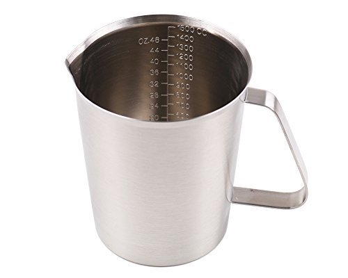 Artmice-Measuring Cup/Steaming Frothing Pitcher, Artmice Good Grips Stainless Steel Measuring Cup with Marking with Handle (1500ml(48OZ))