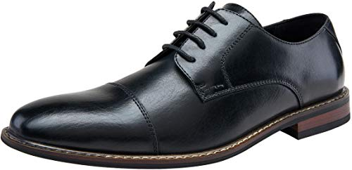 JOUSEN Men's Oxford Classic Cap Toe Formal Dress Shoes -
