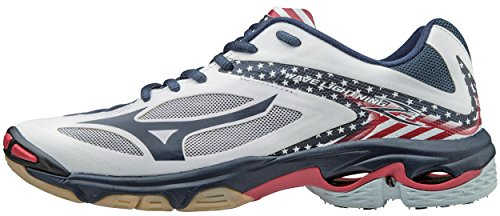 Mizuno Men's Wave Lightning Z3 Volleyball Shoe, Stars/Stripes, 17 D US by Mizuno