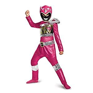 Disguise Pink Ranger Dino Charge Sequin Deluxe Costume Large 10 12