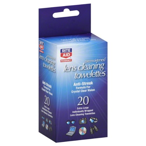 Rite Aid Pharmacy Lens Cleaning Towelettes, Premoistened 20 towelettes