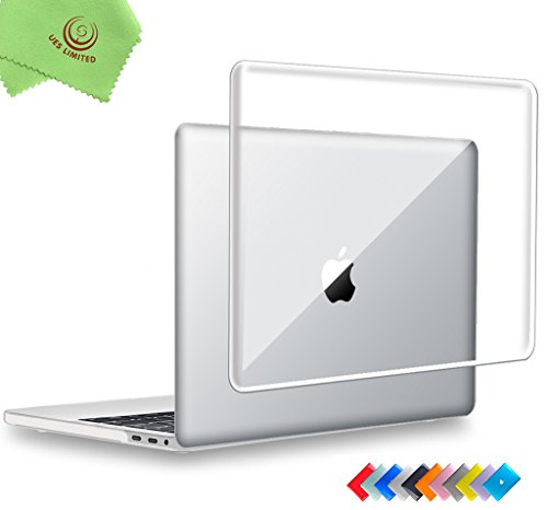 MacBook Pro 15 inch Case 2019 & 2018 & 2017 & 2016, UESWILL Crystal Clear Glossy Hard Case for MacBook Pro 15