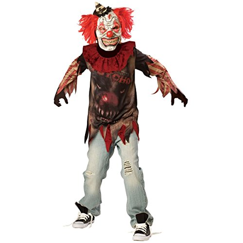 Costume Clown Psycho Halloween (Children's Sideshow Psycho Costume Size Large)