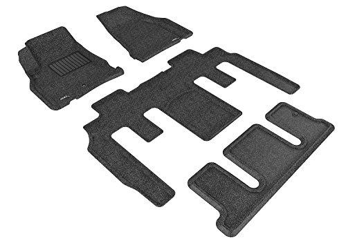 (3D MAXpider Custom Fit Complete Floor Mat Set for Select GMC Acadia Models - Classic Carpet (Black))