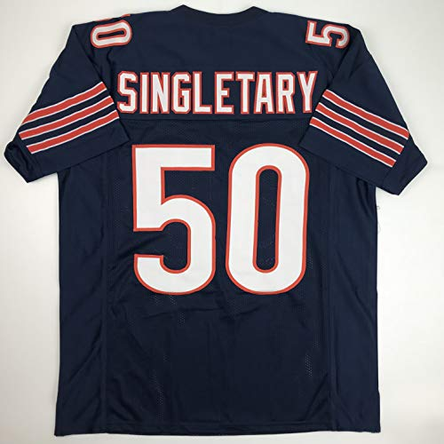 Unsigned Mike Singletary Chicago Blue Custom Stitched Football Jersey Size Men's XL New No Brands/Logos from Phanatic Sports Memorabilia