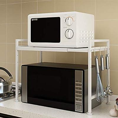 Microondas Caja Estantes de cocina de microondas estante ajustable ...