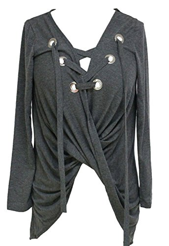 Pinkyee - Camisas - para mujer gris