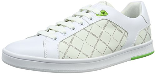 Boss Green Herren RayAdv_Tenn_nypr 10191433 01 Low-Top, Weiß (White 100), 45 EU HUGO BOSS