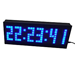 BT 3.3'' Blue LED Countdown Clock With Remote & Buttons For Sport Timing Escape