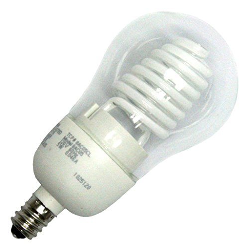 TCP 8AC05CL Cold Cathode A Line A17-25 Watt eq. (only 5w used) Soft White (2700K) Candelabra Base Clear Light Bulb (200 Lumens) (A19 Cold Cathode Lamp)