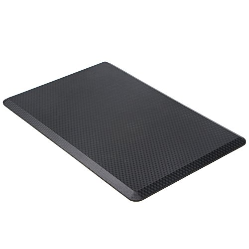 "VIVA OFFICE Premium Anti-fatigue Comfort Floor Mat 30"" x 19"" x 3/4"" for Kitchen, Office, Standing Desks and Garages -Black"