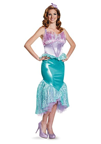 Disguise Women's Ariel Deluxe Adult Costume, Multi, Large