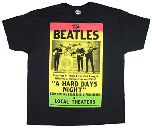 The Beatles A Hard Days Night Movie Billboard Mens' Big And Tall T-Shirt (4XL) (Billboard Tshirt)
