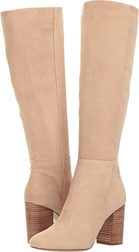 Ballet Heel Boots - Kenneth Cole New York Women's Clarissa Knee High Tall Stacked Heel Engineer Boot, Almond, 7.5 M US