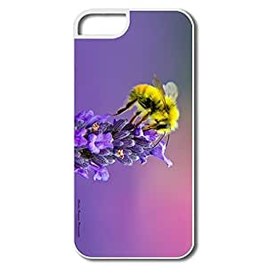 Durable Honey Bee Lavendar Pc Cover For IPhone 5/5s