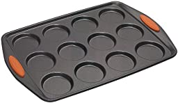 Rachael Ray Oven Lovin\' Non-Stick 12-Cup Whoopie Pie Pan, Orange