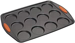 Rachael Ray Oven Lovin' Non-Stick 12-Cup Whoopie Pie Pan, Orange