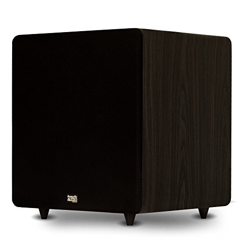 """Acoustic Audio PSW600-15 Home Theater Powered 15"""" LFE Subwoofer Black Front Firing Sub"""