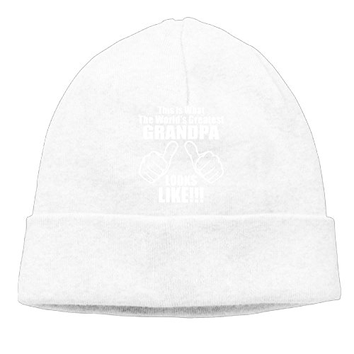 Richard Lyons Momen This Is What The World's Greatest Grandpa Looks Like Fashion Hip-Hop White Beanies Hat