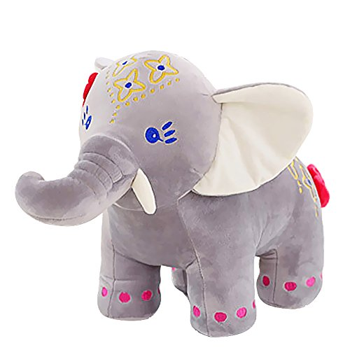 Sealive 14 Inches Kawaii Stuffed Plush Animal Doll Elephant Blue Red ,Lovely Plush Toy Very Cute Girl Gift Soft Toy for Children Nursering Sleeping Pillow