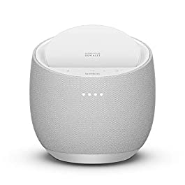 Belkin SoundForm Elite Hi-Fi Smart Speaker + Wireless Charger (Voice-Controlled Bluetooth Speaker) Sound Technology By Devialet (White)