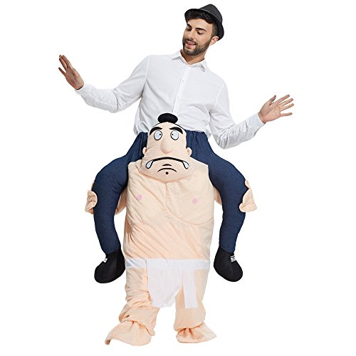(TOLOCO Piggyback Ride On Riding Shoulder Adult Costume Easter Mascot Pants (Sumo))