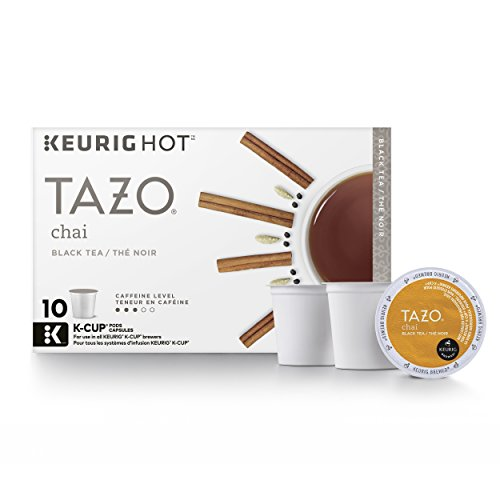 Tazo Chai Black Tea Keurig Pods, Medium to High Caffeine – (60 Single Serve K-Cups), (Pack of 6)
