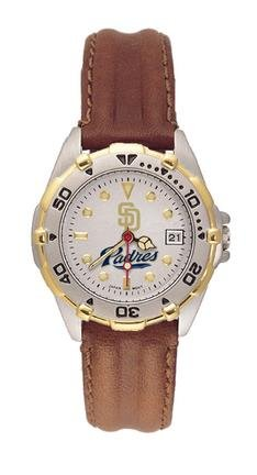 San Diego Padres MLB All Star Watch with Leather Band - Women