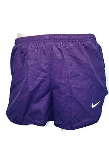 Running Fit Tempo Dri Women Shorts Nike (NIKE Womens 3 Tempo Modern Embossed Running Short (Small, Purple/Silver))