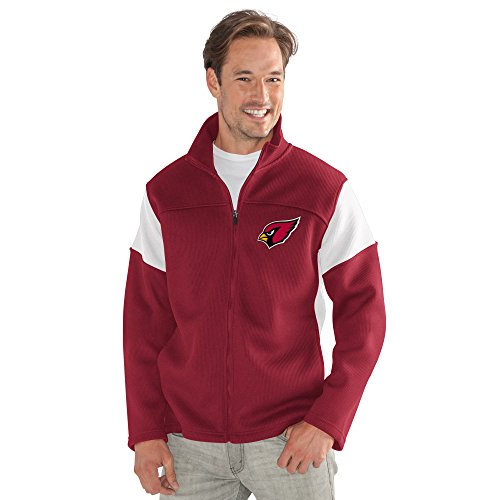 G-III Sports NFL Arizona Cardinals Adult Men Halftime Full Zip Jacket, Large, Cardinal from G-III Sports