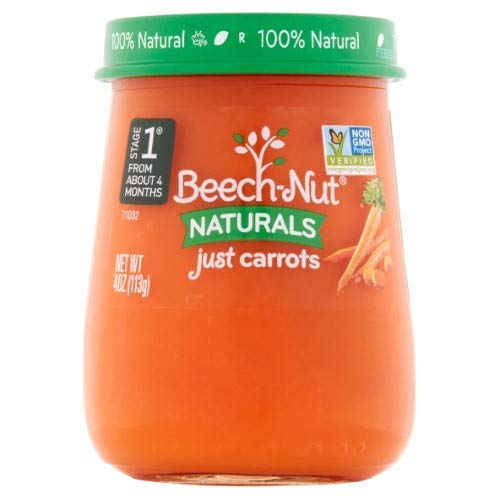 Beech-Nut Naturals Stage 1 Just Carrots, 4 oz (Pack of ()