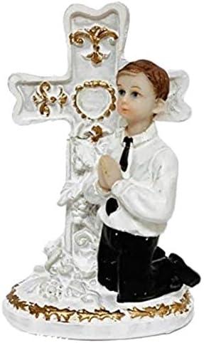 First Communion Kneeling Praying Girl or Boy Cake Topper Centerpiece Decoration Keepsake