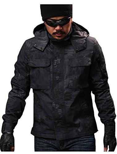 立場テープスタッフ(モダンミス)Mordenmiss コスチューム メンズ 迷彩ジャケット フード付き 速乾 アウトドア戦闘服 偽装