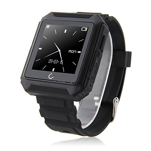 Generic Uterra IP68 Waterproof Bluetooth Smart Sports Watch for iOS and Android Phone Black