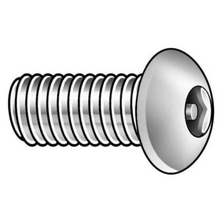 5/16-18 x 2'' Button Head Hex Head Tamper Resistant Screw, 5 pk.