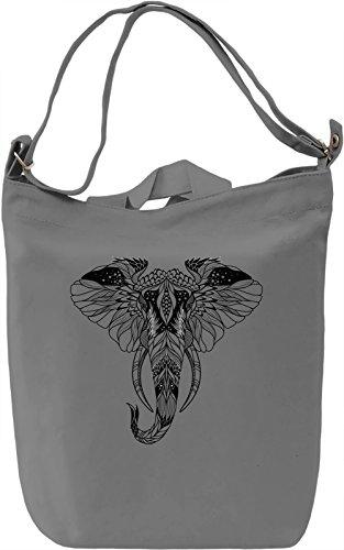 Elephant head Borsa Giornaliera Canvas Canvas Day Bag| 100% Premium Cotton Canvas| DTG Printing|