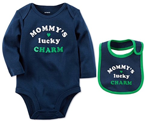 (Carter's Baby Mommy's Lucky Charm Bodysuit & Bib 2 Piece Set (Newborn))