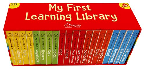 Library Box Set - My First Learning Library Box Set: 20 Board Books Gift Set for Kids (Horizontal Design)