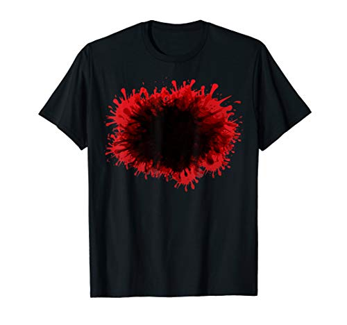 Happy Halloween Blood Splatter Tshirt Costume - Gag DIY Gift ()