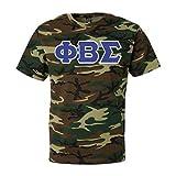 Greekgear Phi Beta Sigma Fraternity Greek Lettered Camouflage Short Sleeve T-Shirt Medium