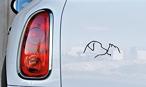 Halloween Glitter Clipart (Dog Cat Head Sketch Version 1 Car Vinyl Sticker Decal Bumper Sticker for Auto Cars Trucks Windshield Custom Walls Windows Ipad Macbook Laptop and More)