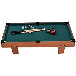 "Goplus Mini Pool Table Tabletop Billiard Game Set w/ Cues Balls 48"" and 36"" (Green 36"")"