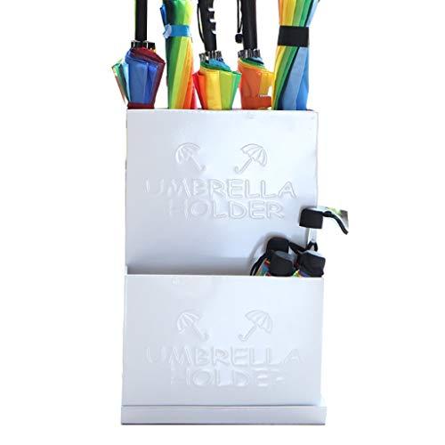 QXX Umbrella Detachable Drip Tray Storage Rack Home Office Decoration Wrought Iron Umbrella Bucket 20.9x13.8x9.4in (Color : White)