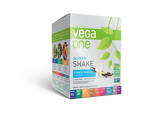 Vega One All In One Plant Based Protein Powder  French Vanilla  1 5 Oz  10 Count