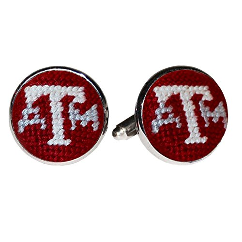 Texas A&M Aggies Needlepoint Cufflinks by Smathers & Branson ()