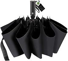 折りたたみ傘 自動開閉 2019最新 頑丈な12本骨 折り畳み傘 日傘 メンズ 大きい 晴雨兼用 Teflon加工 超撥水 100%遮光 210T高強度グラスファイバー 台風対応 梅雨対策 傘 カバー付き