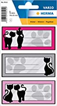 Herma 5512 - Etiquetas para escribir el nombre, uso escolar, formato 7,6 x 3,5 cm, contenido por paquete: 9 etiquetas