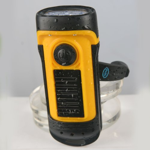 Secur Waterproof Hand crank or built in Solar powered 3 ...