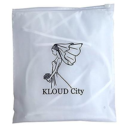 KLOUD City White Double Ribbon Edge Center Cascade Bridal Wedding Veil with Comb